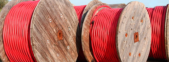 Red Cables on a barrel