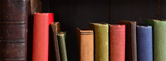 Old colourful books