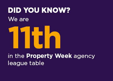 did you know we are 11th in the property week agency league table