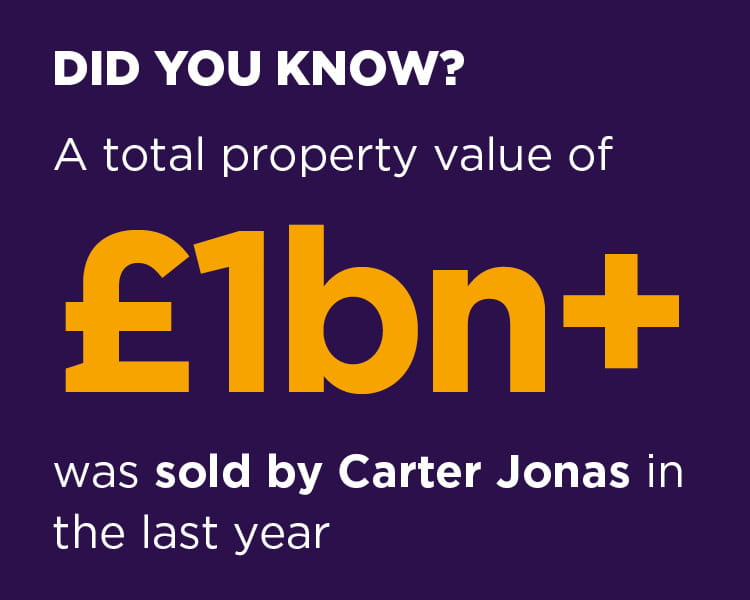 A total property value of £1bn+ was sold by Carter Jonas in the last year