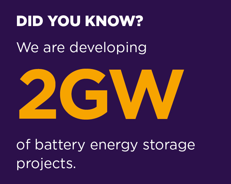 We are developing 2GW of battery energy storage projects