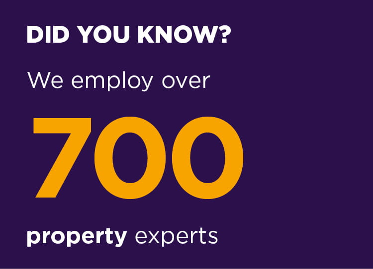 We employ over 700 property experts