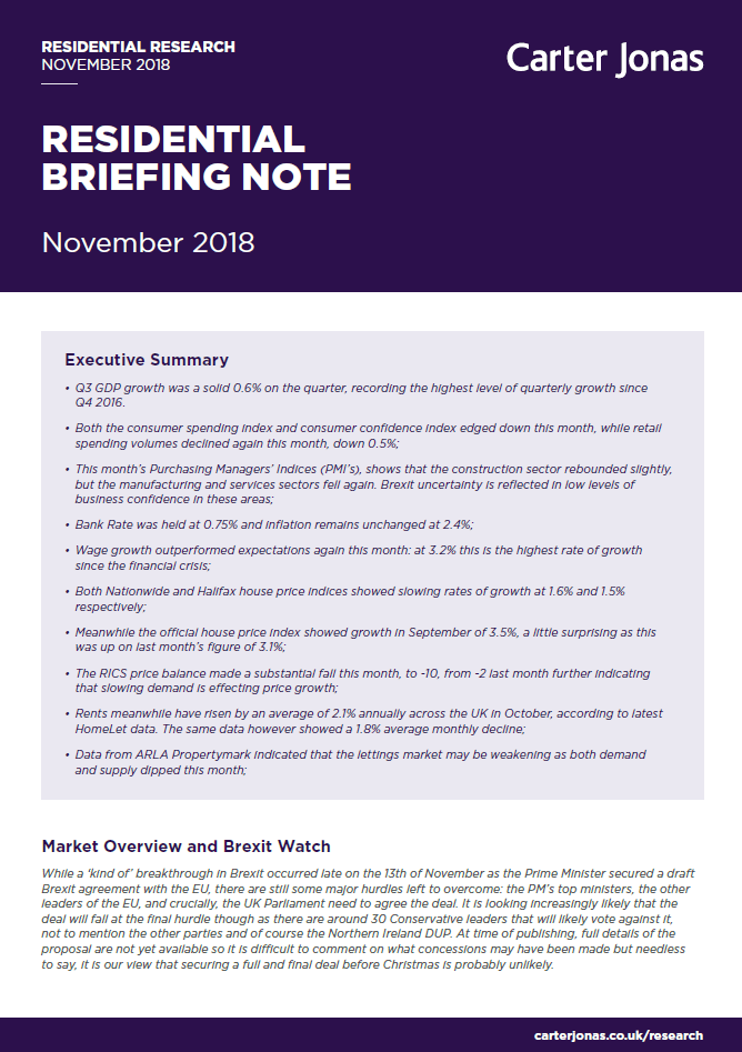 Residential Briefing note | November 2018