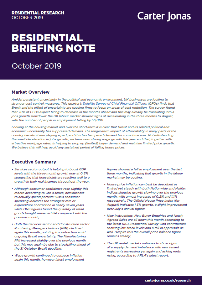 Residential Briefing Note October 19