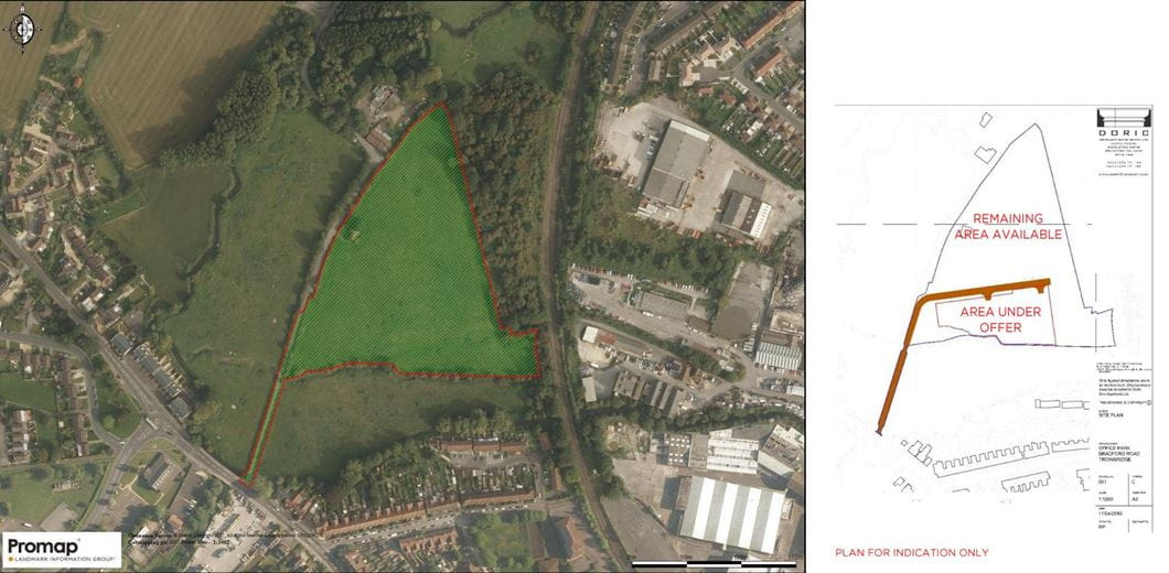2.1 hectares , Commercial Land, Bradford Road BA14 - Available
