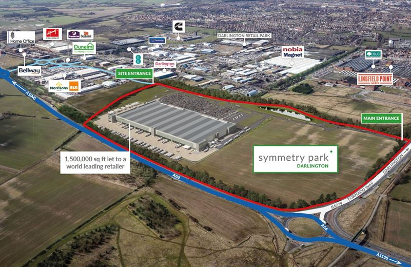 20,000 to 577,500 Sq Ft , Symmetry Park Darlington, Tornado Way DL1 - Available