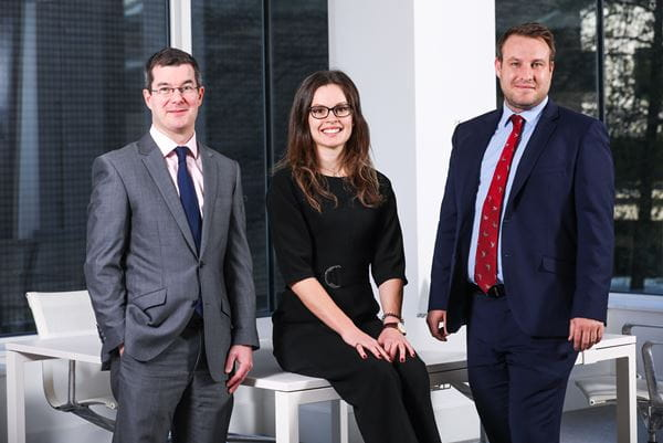 Carter Jonas, new joiners in Valuation team. Left to right: Barry Rea, Lucy-Anne Johnson and Michael Henretty